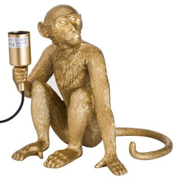 George the Monkey Gold Lamp