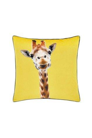 Catherine Lansfield Giraffe Yellow Cushion 55x55cm