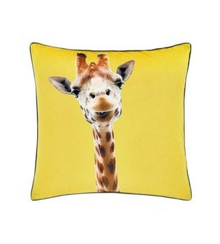 Catherine Lansfield Giraffe Yellow Cushion 55x55cm