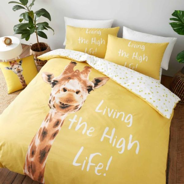 Catherine Lansfield Giraffe Yellow Duvet Single