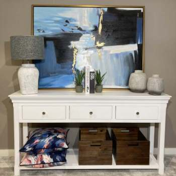 Harrow 3 Drawer Console Table