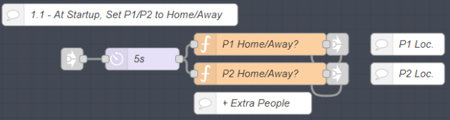 Showing how to set Home/Away on startup