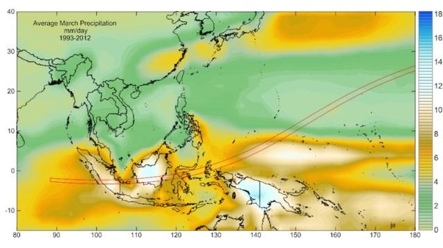 Peta tingkat hujan di Indonesia. Courtesy: jay Anderson