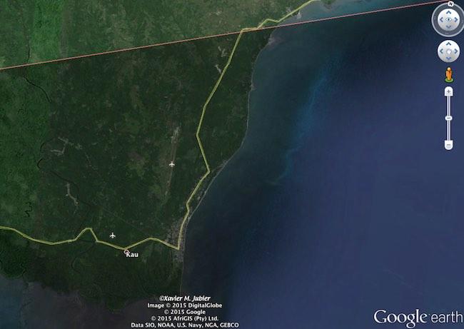Kao, kota di batas utara jalur totalitas 2016. Kredit: Google Earth Pro / Xavier Jubier