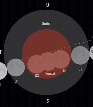 Infografik: Gerhana Bulan Total 31 Januari 2018