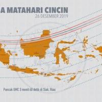 Waktu & Jalur Gerhana Matahari Cincin 2019