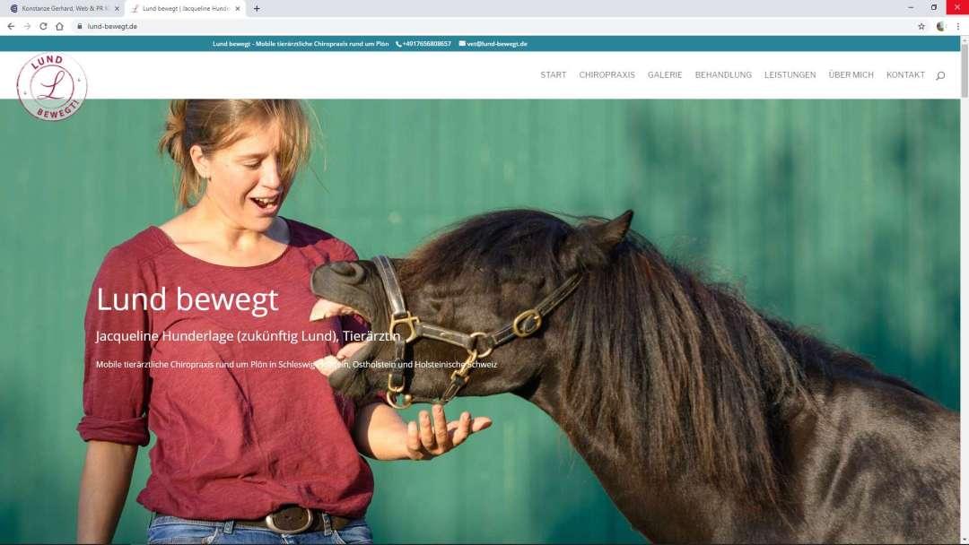 Jacqueline Hunderlage (zukünftig Lund) | Lund bewegt - Mobile tierärztliche Chiropraxis rund um Plön in Schleswig-Holstein, Ostholstein und Holsteinische Schweiz