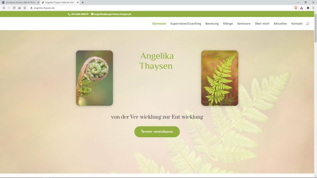 Angelika Thaysen | Supervision, Coaching & Beratung | Felde bei Kiel, Schleswig-Holstein