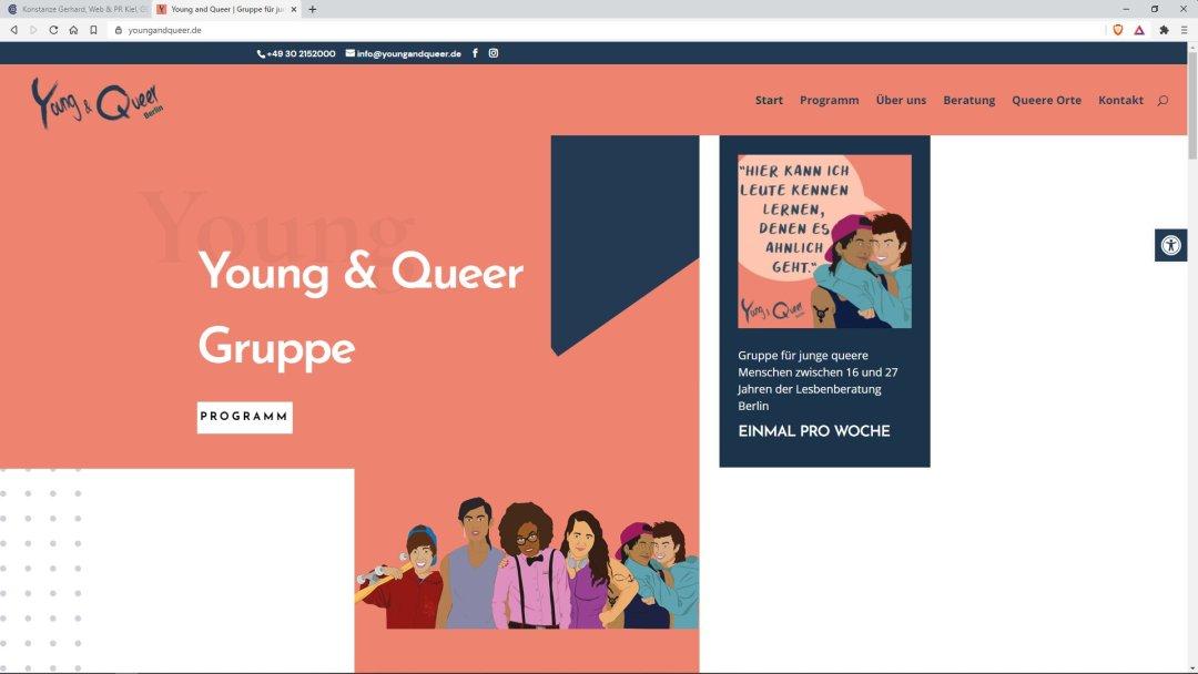 Young & Queer - Gruppe für junge queere Menschen zwischen 16 und 27 Jahren der Lesbenberatung Berlin