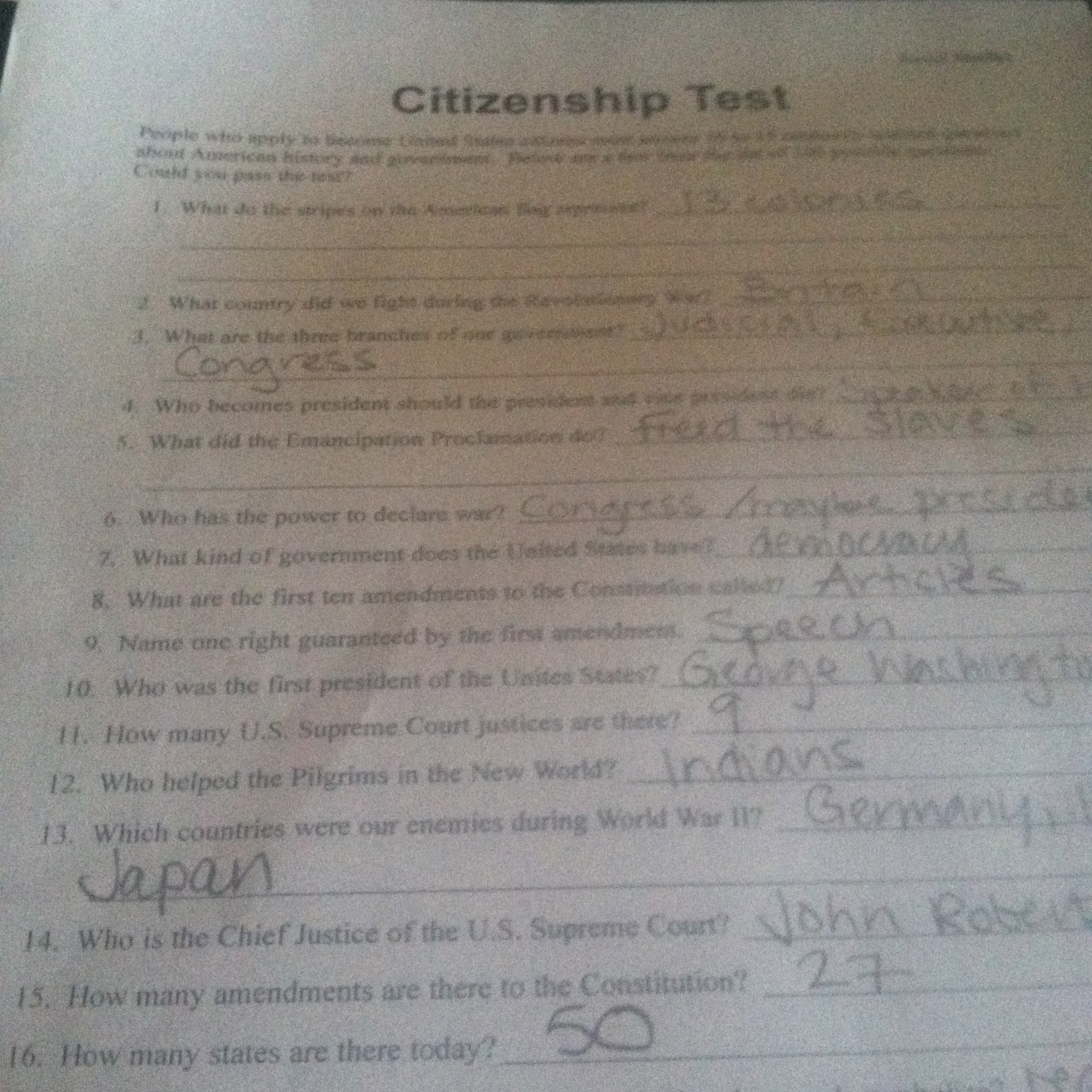 Citizenship In The World Worksheet Answers