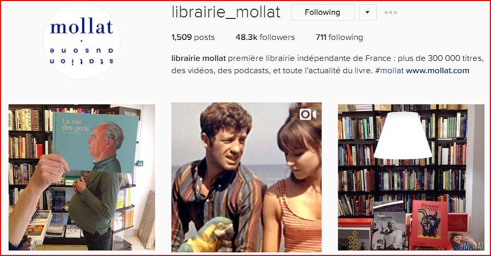 Instagram Librairie Mollat