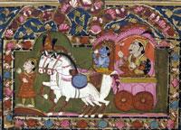 [photo] image of Krishna from the Bhagvad Gita