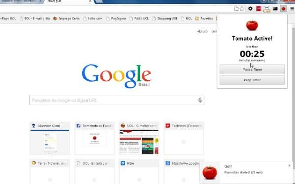 Tomato Timer (Extensão Google Chrome)