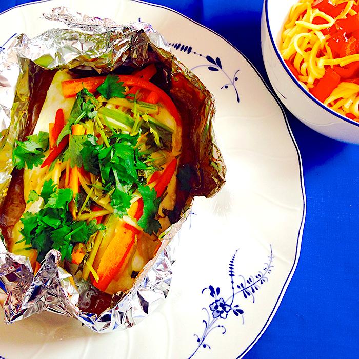 Thai Fish / Риба във фолио по Тайландски рецепта