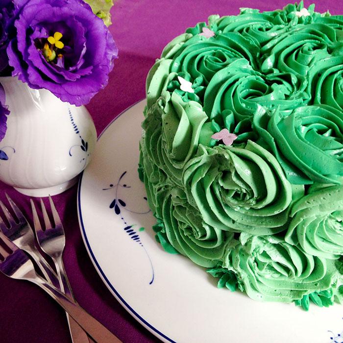 Green Cake / Торта Розета с Швейцарски Маслен Крем рецепта