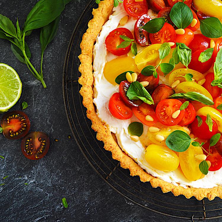 Tomato Ricotta Tart recipe/ Тарт с Пармезан, Домати и Рикота рецепта