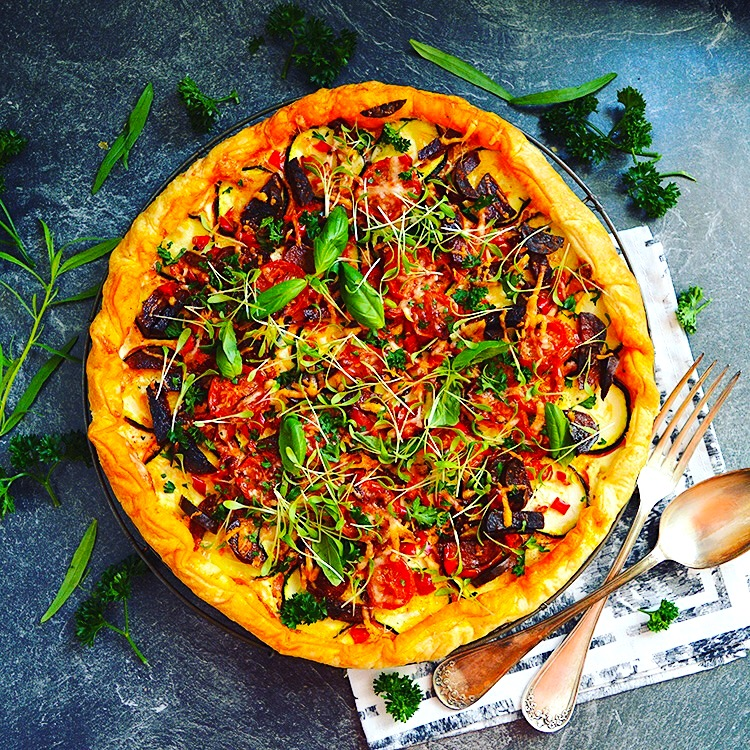 Ricotta Tart recipe / Зеленчуков Тарт с Чоризо & Рикота рецепта