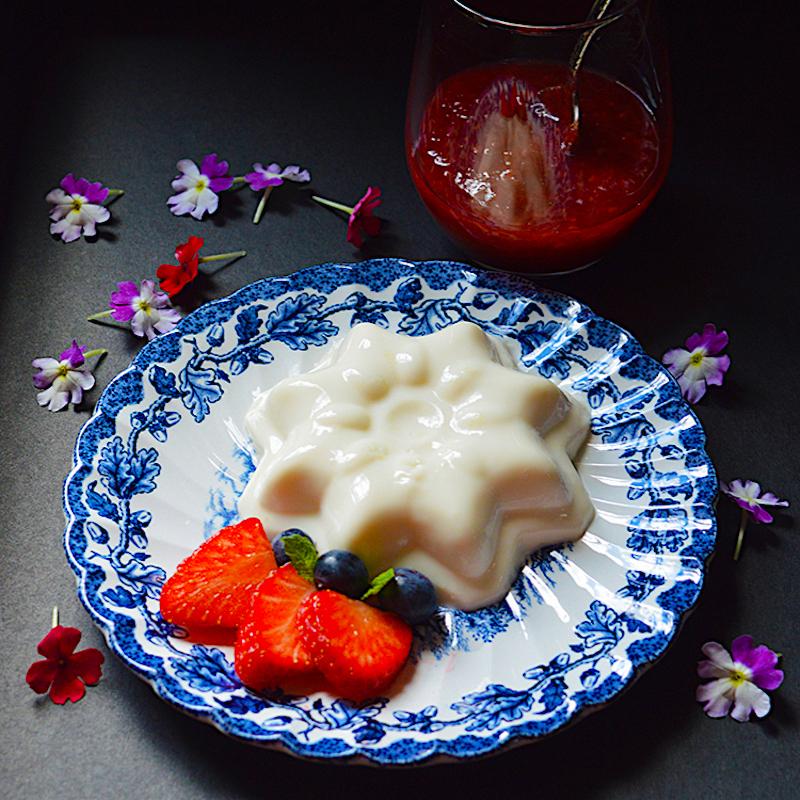 Vegan Strawberry Pana cotta