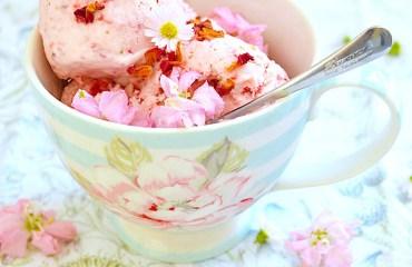 Strawberry Rose Ice Cream