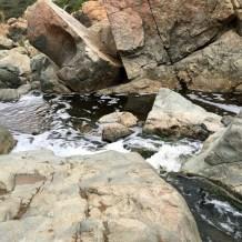 Small little waterfall.