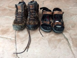My hiking boots and sandals