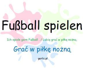 Fußball spielen