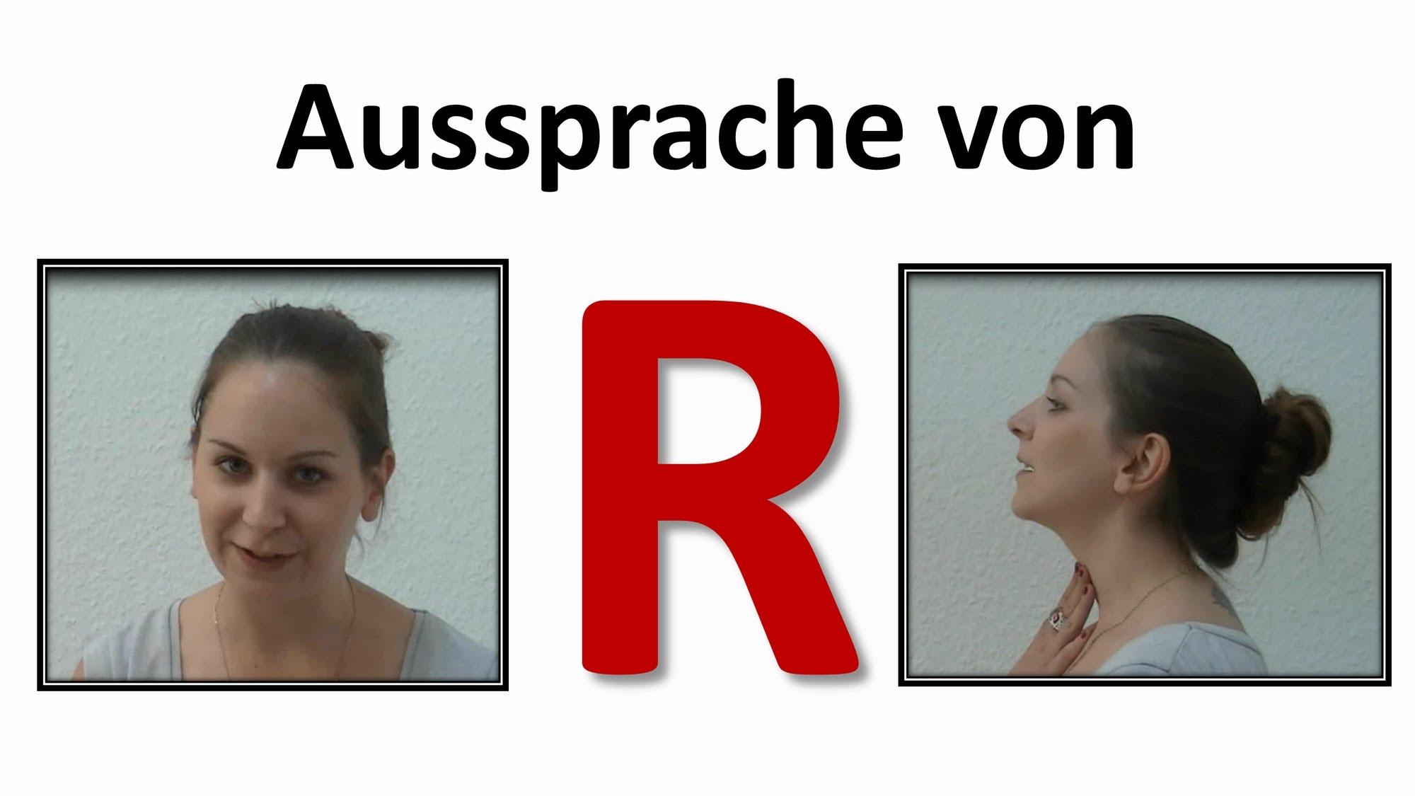 Deutsch Lernen Aussprache Von R Im Deutschen German