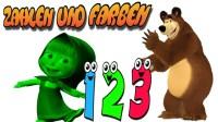 Farben und Zahlen lernen fr Kinder mit Mascha und der Br ...