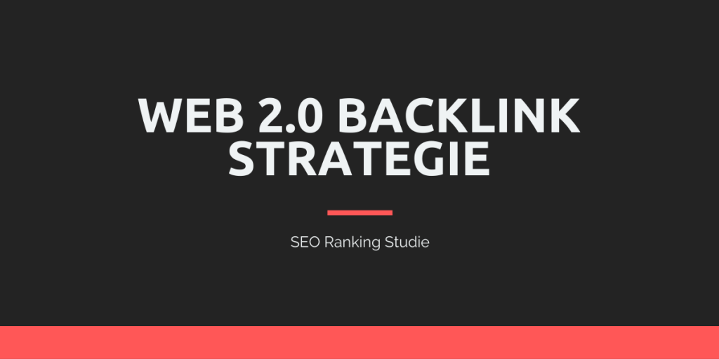 Web 2.0 SEO Strategie
