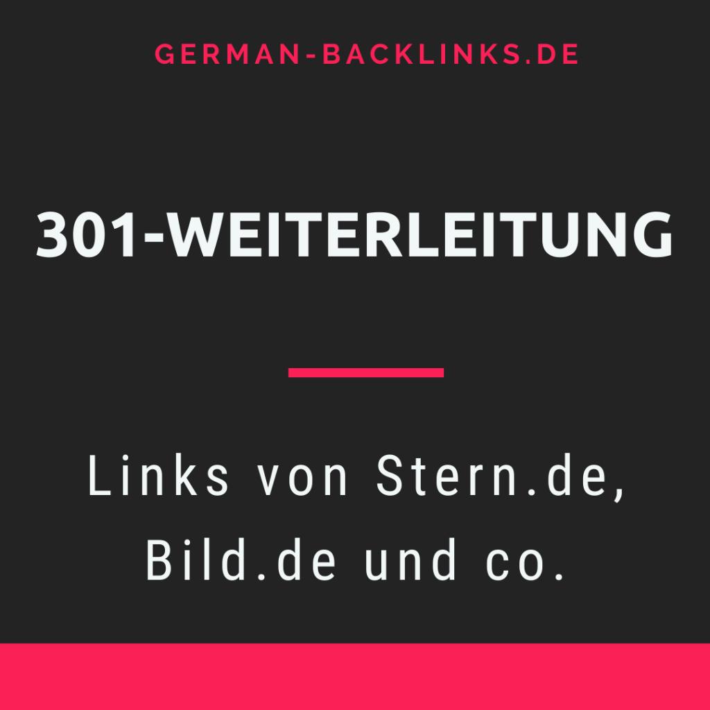 301 Weiterleitung Backlink von Stern Bild kaufen