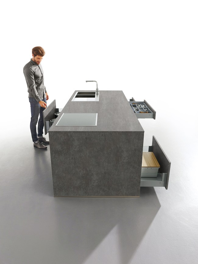 elba concrete kitchen schuller grey kitchens cardiff