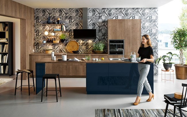 Patterned Laminate Panelling - Schuller Kitchens Cardiff