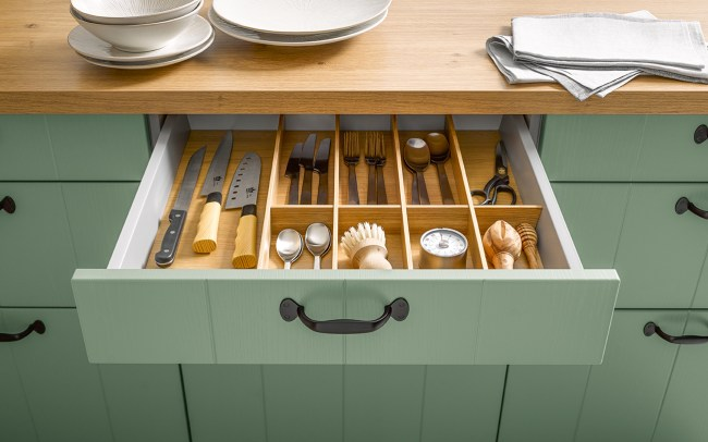 Schuller German Kitchens Cardiff - Insert for Cutlery - Natural Oak