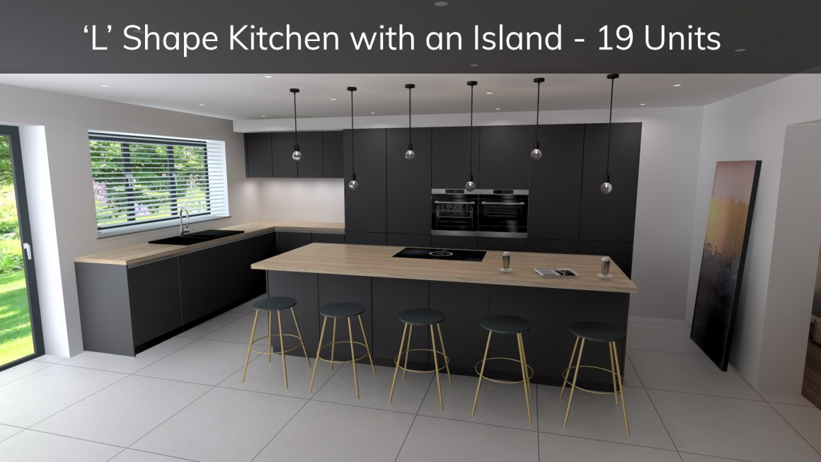 L shape kitchen with island - how much does a german kitchen cost
