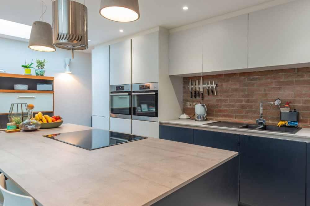 Schuller Biella Matt White - Indigo Blue Kitchen Project in Penarth - 08