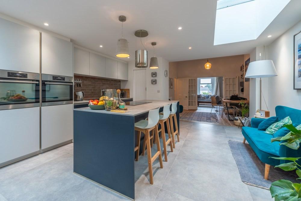 Schuller Biella Matt White - Indigo Blue Kitchen Project in Penarth - 04