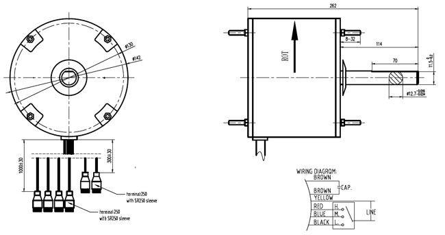4 Draht-Wechselstrom-Ventilatormotor-Ersatz-variable