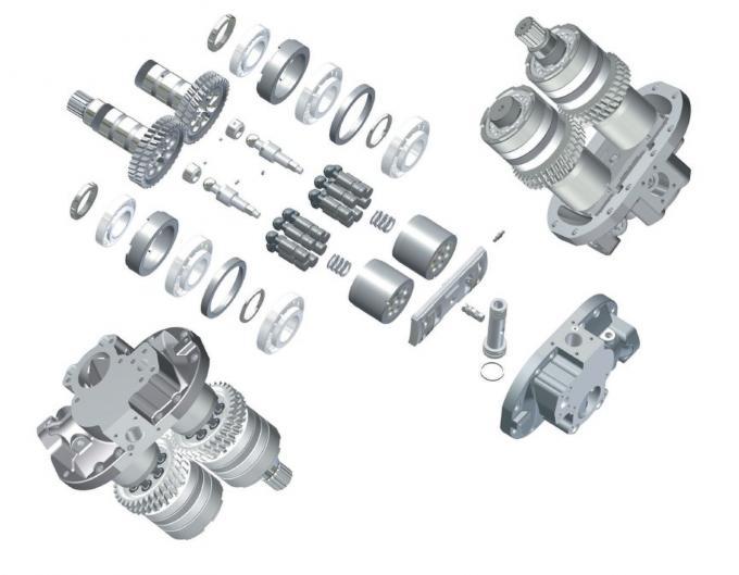 Hydraulikpumpe-Hitachi-Schwingen-Motor des Bagger-Ex220-3