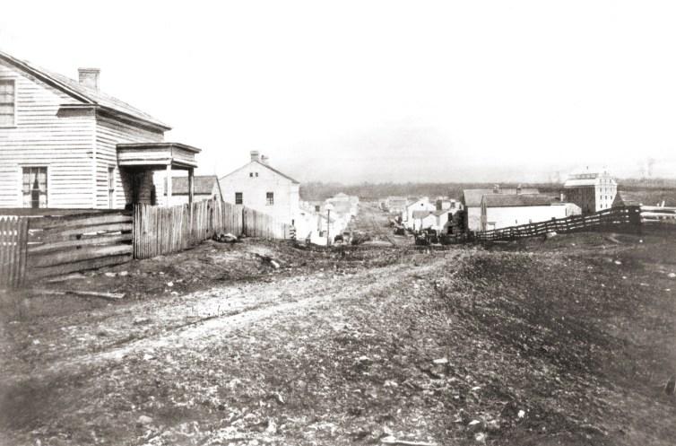 Cedarburg, 1856. Courtesy of Edw. Rappold