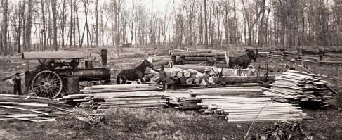 Portable Sawmill N Side of Nieman's Farm Spring 1904