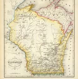 Karte von Wisconsin. Nach den neuesten Hulfsmitteln gezeichnet von J. Graessl. 1852 source: David Rumsey Collection http://www.davidrumsey.com/home