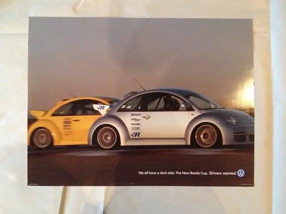 2015 Scott Speed signed Andretti Volkswagen VW Beetle Global RallyCross poster
