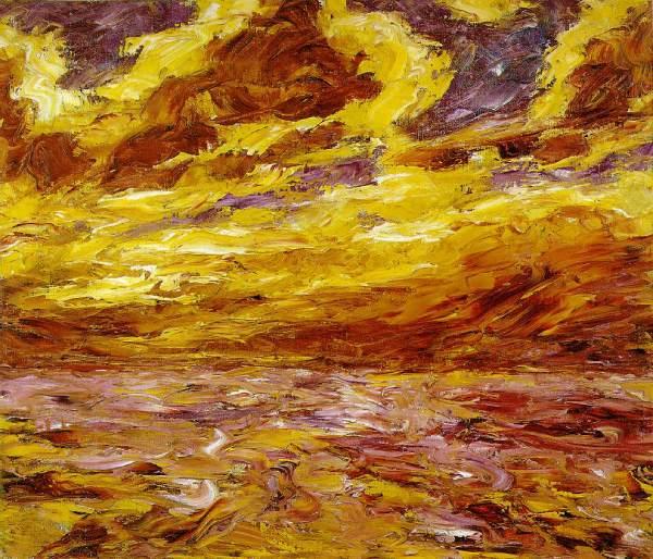 Emil Nolde Autumn Sea Painting