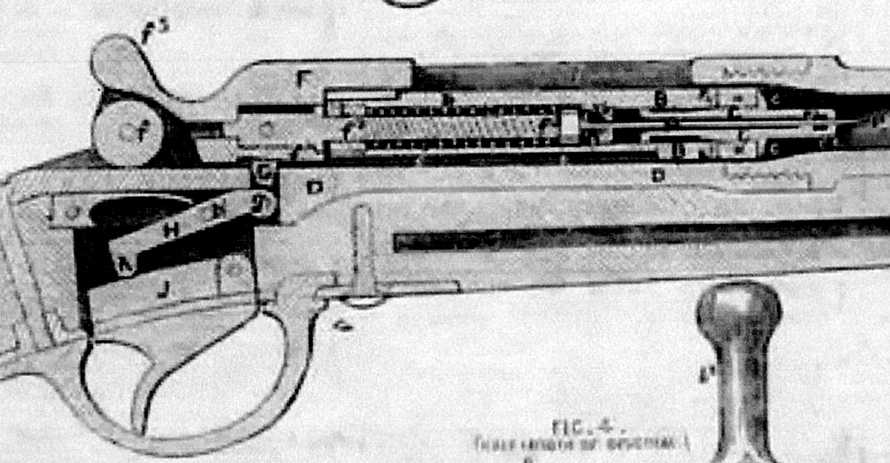 hight resolution of the gun s needle penetrated the paper cartridge before nr 313 p dreyseschematic