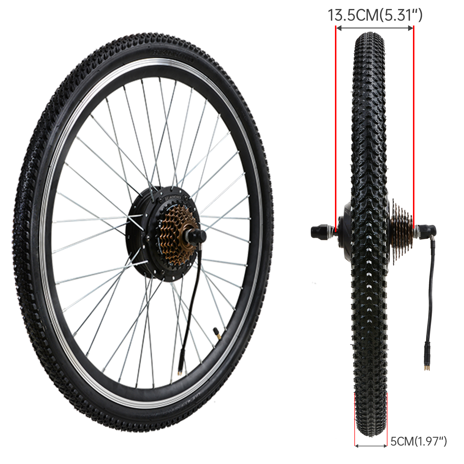 500w Electric Bicycle Ebike Conversion Kit Brushless