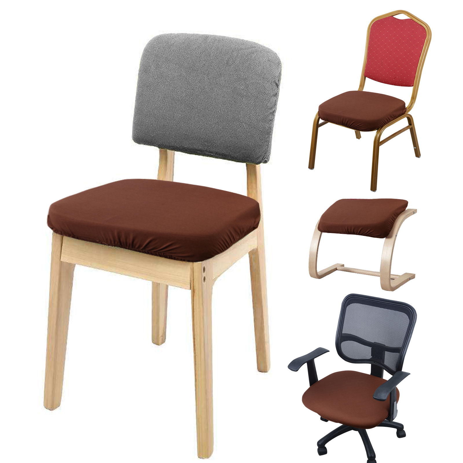 Office Chair Seat Covers 4pcs Chair Covers Stretch Dinning Office Stool Seat