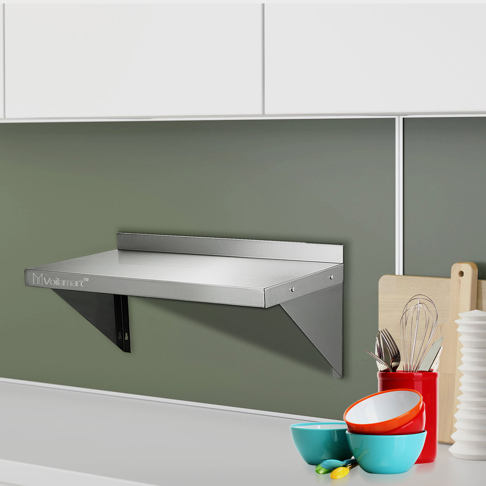 kitchen wall shelf what is the average cost of a remodel 600mm commercial stainless steel 24 quot x 12
