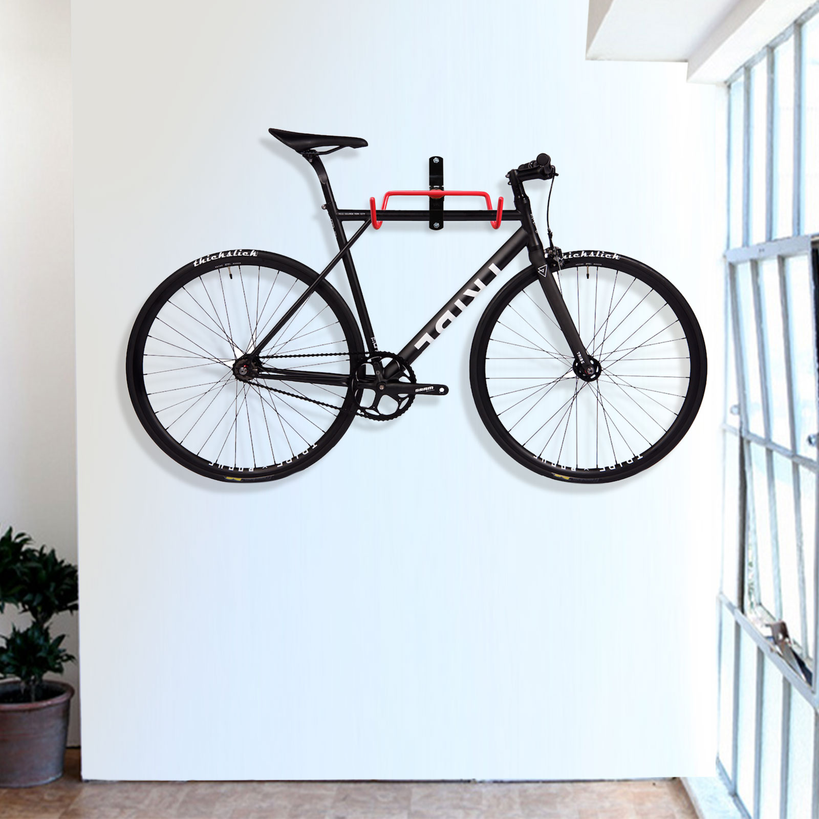 2pcs Bike Wall Mount Hanger Garage Storage Hook Holder