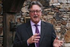 Richard Hurley, President of the University of Mary Washington, Fort Germanna Transfer Ceremony, October 2, 2013, Germanna Foundation Visitor Center, Locust Grove, Virginia