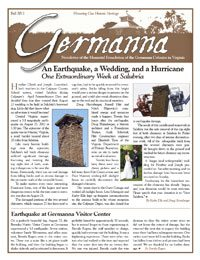Germanna Foundation Newsletter, Fall 2011